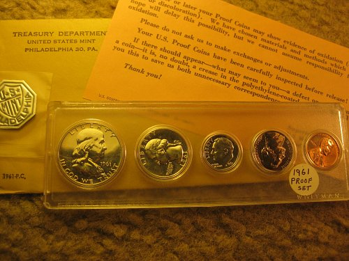 1961-P Proof Set US Mint 5 Coins in Whitman Case