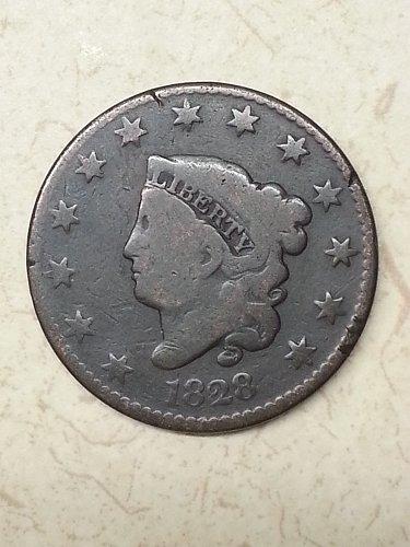 1828 Coronet Liberty Head Large Cent