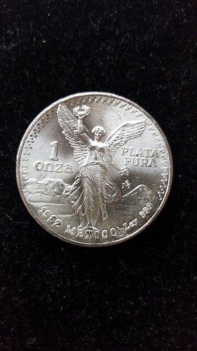 1982 1 oz Silver BU Mexican Libertad