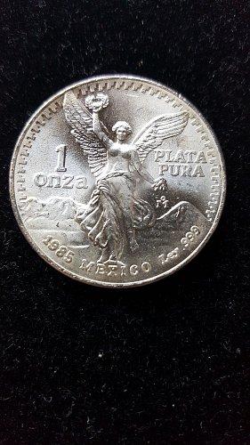 1985 1 oz Silver BU Mexican Libertad