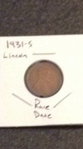 1931 S Lincoln Wheat Cent Small Cents