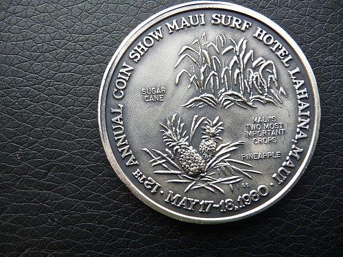 1980 Maui Coin Club Medal