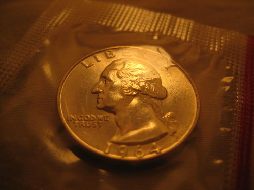 1964-D Washington Quarter Mint BU in Cello