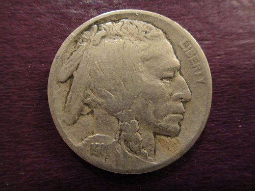 1914 Buffalo Nickel Very Fine-20 Solid Strike & Defintion For Grade . . .