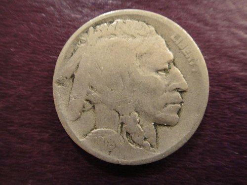 1918-D Buffalo Nickel Good-4+ Decent Defintion With A Near Full Date!
