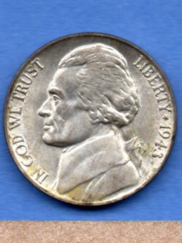 1943 Jefferson Nickle