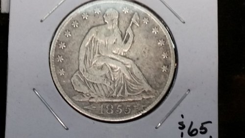 1855 O Seated Liberty \Great condition low $$ \one to grade!can't touch my $$