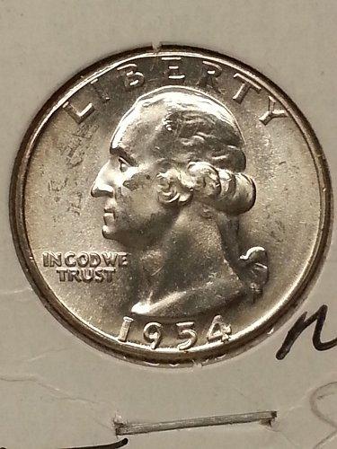 1954 Washington Quarter