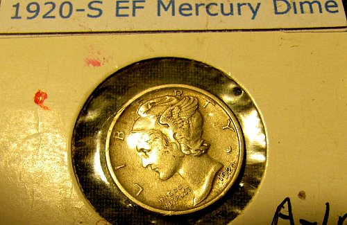 1920-S choice Mercury Dime  A-90 Win 1st dime/s, Take 10% off 2nd dime/s Won ref