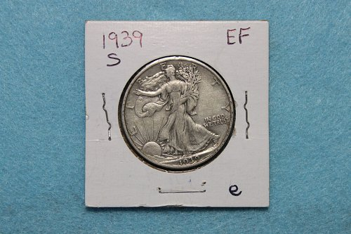 1939 S Walking Liberty Half Dollars