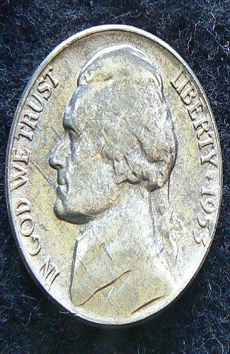 1953 P Jefferson Nickel FS