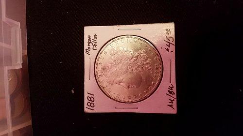AU/BU 1881 Morgan dollar