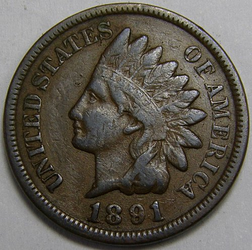 1891 P Indian Head Cent #7