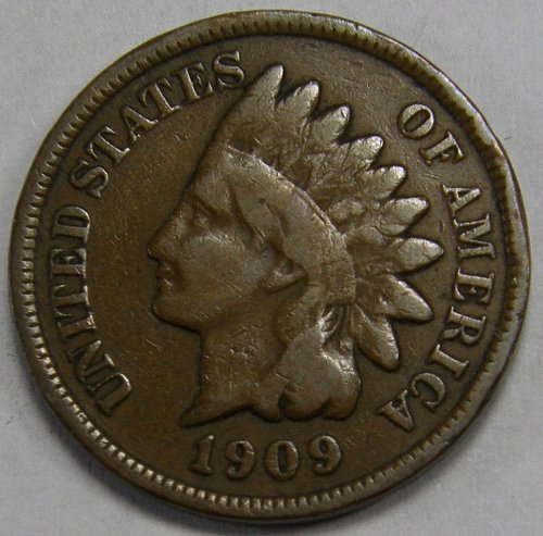 1909 P Indian Head Cent #25