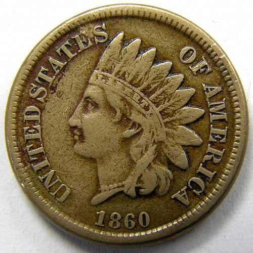 1860 P Indian Head Cent #2