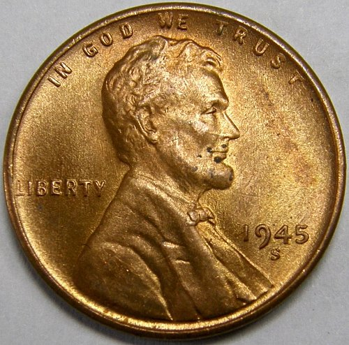 1945 S Lincoln Wheat Cent #4