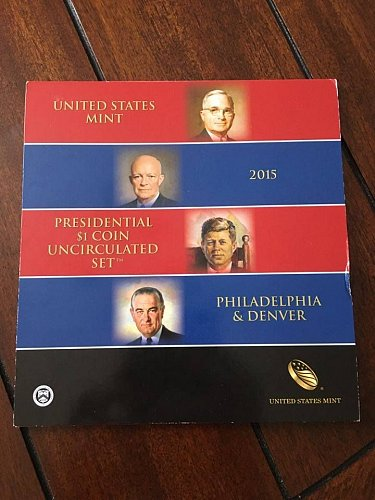 UNITED STATES MINT, 2015, PRESIDENTIAL $1 COIN UNCIRCULATED SET