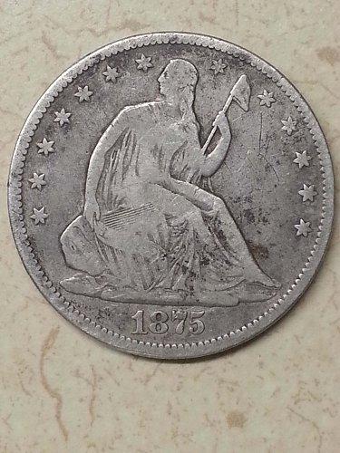 1875-CC Seated Liberty Half