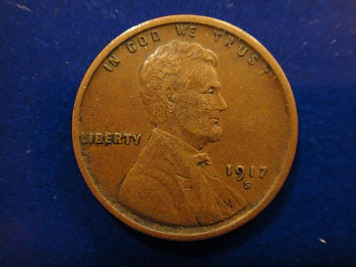 1917-S Lincoln Cent Very Fine-30 Nice Overall Sharp Defintion For Grade!