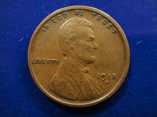 1918-S Lincoln Cent Extra Fine-40+ Nice Strong Strike On This Chocolate Beauty!