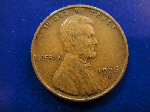 1926-D Lincoln Cent Very Fine-30 Nice Chocolate Brown Coin With A Strong Strike!