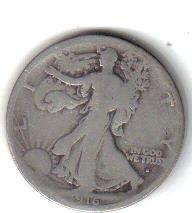 1916 S   WALKER HALF DOLLAR