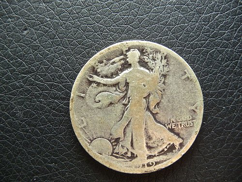 1919 - D Walking Liberty Half Dollar