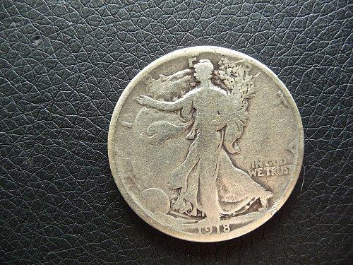 1918 - D Walking Liberty Half Dollar