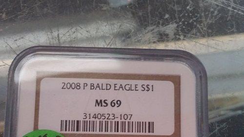 2008 Bald Eagle Silver Dollar