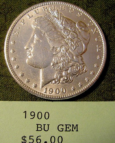 1900 Morgan Dollar; win 1; get 2nd Morgan Now  9% discount @ Pay Pal!!