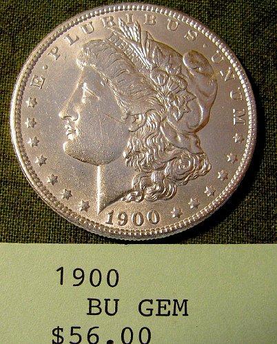 1900 Morgan Dollar; win 1; get 2nd Morgan Now  9% discount @ Pay Pal!!