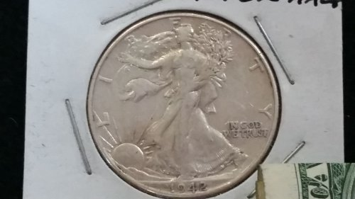 1942 Liberty Half\Still has mint luster !beautiful coin LOW$$$