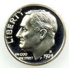 1974 S  PROOF ROOSEVELT DIME