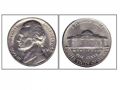 1963 - Choice BU Jefferson Nickel; from Mint Set; 5 Full Steps