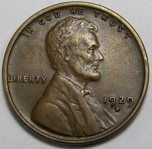 1929 D Lincoln Wheat Cent #5