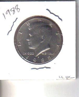 1988   P    KENNEDY HALF DOLLAR