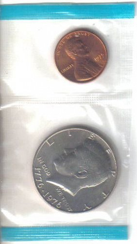 1975 P  KENNEDY HALF  DOLLAR and  1975 P LINCOLN CENT