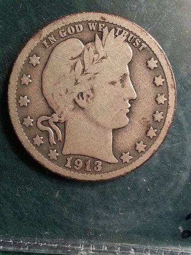 1913 Barber Quarter