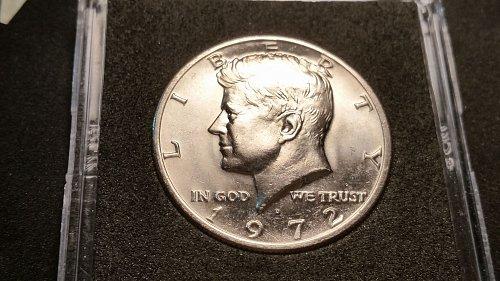 1972 D Kennedy half