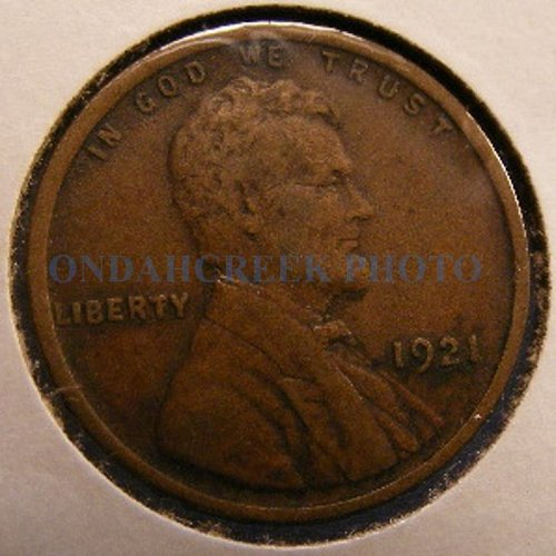 1921 Very Fine Lincoln Cent Wheat Penny