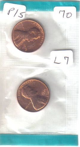 1970 P & S   LINCOLN CENTS