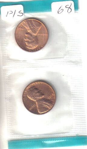 1968   P & S   LINCOLN CENTS