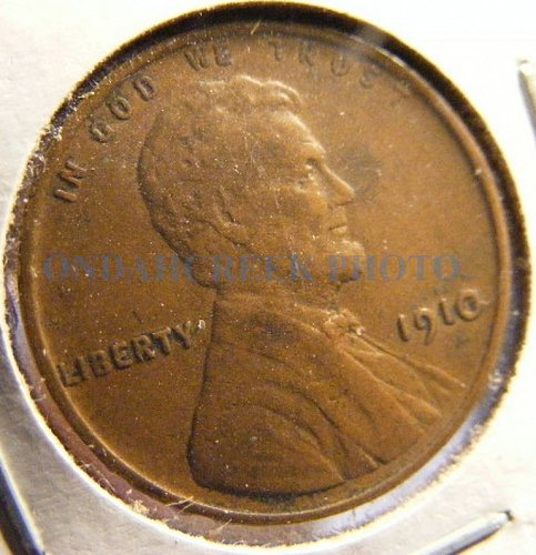 1910 Extra Fine Lincoln Cent Wheat Penny