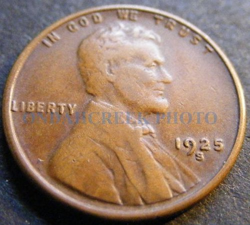 1925-S Very Fine Lincoln Cent Wheat Penny