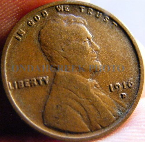 1916-D Fine Lincoln Cent Wheat Penny