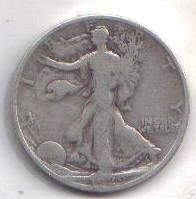 1929 S   WALKER HALF DOLLAR