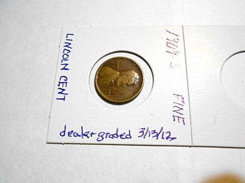 1909-s Lincoln Wheat Cent   fine