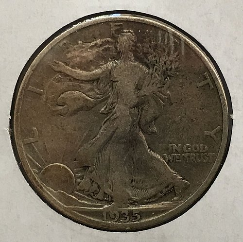 1935 P Walking Liberty Half Dollar Toned