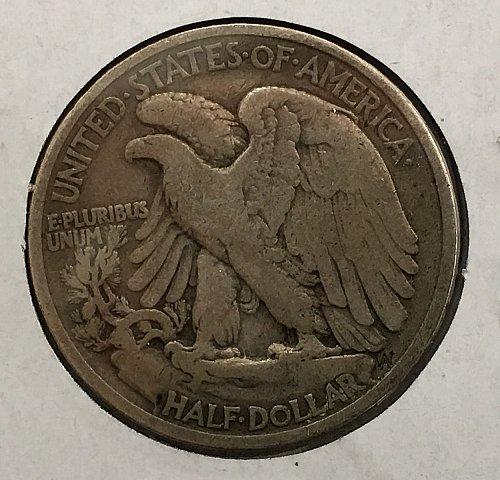 1935 P Walking Liberty Half Dollar Toned