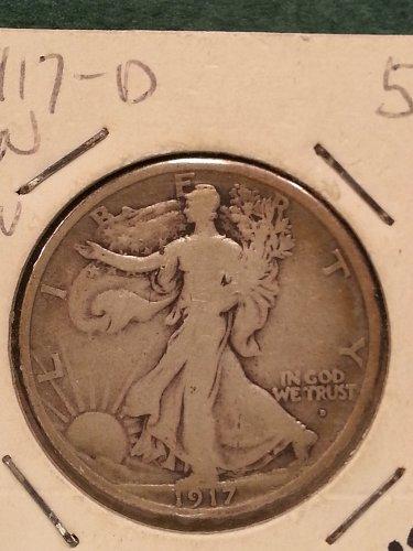 1917-D Walking Liberty Half